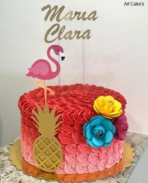flores de papel para bolo