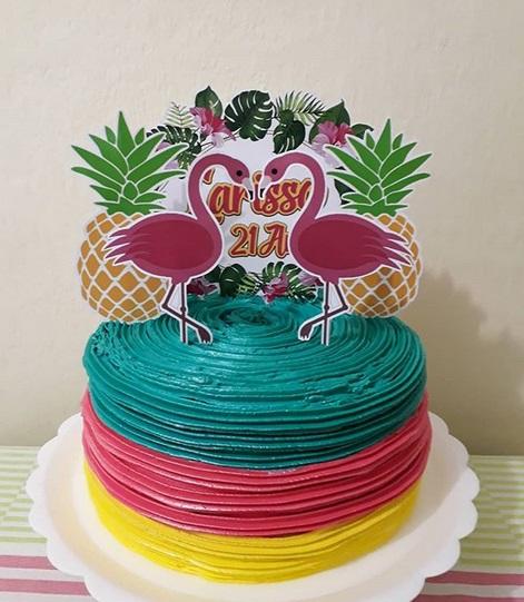 bolo decorado com glacê