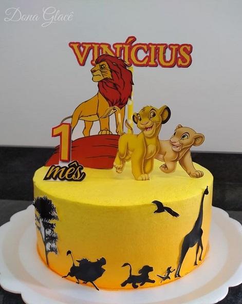 bolo simples mesversário