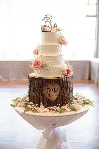 Bolo Rústico: Para casamento com andar estilo madeira