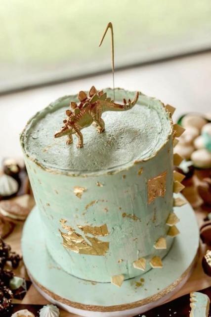 Bolo Rústico: Para aniversário com Tema Dinossauro