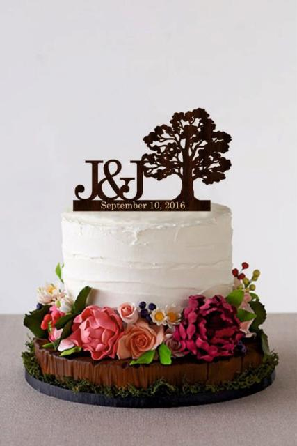 Bolo Rústico: Para casamento redondo com flores