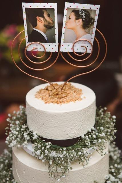 Bolo Rústico: Topo de bolo com fotos
