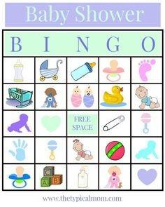 modelo de bingo para chá de bebê