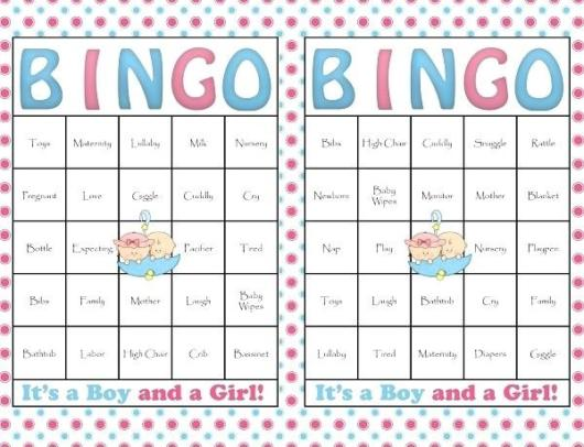 cartela de bingo simples
