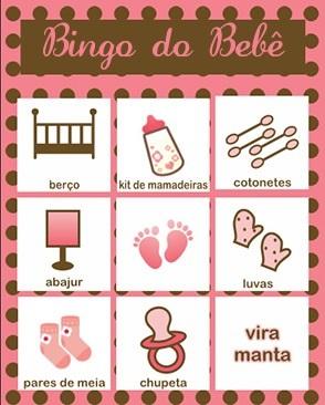 cartela de bingo rosa e marrom