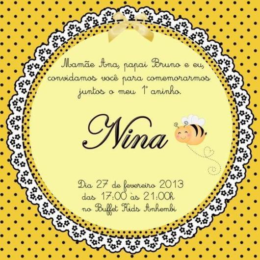 convite abelha digital