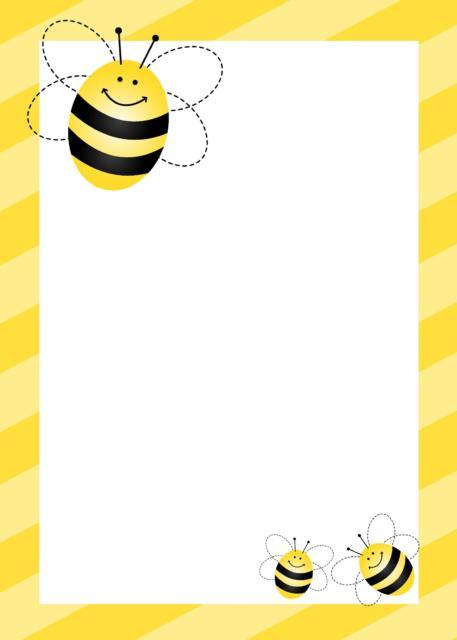 convite abelhinha em branco para preencher
