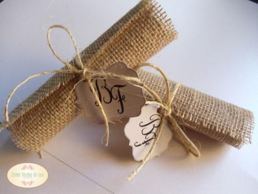 Convite Pergaminho: Casamento