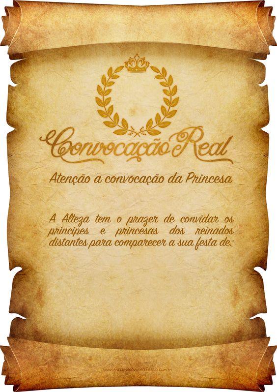 Convite Pergaminho: Para imprimir