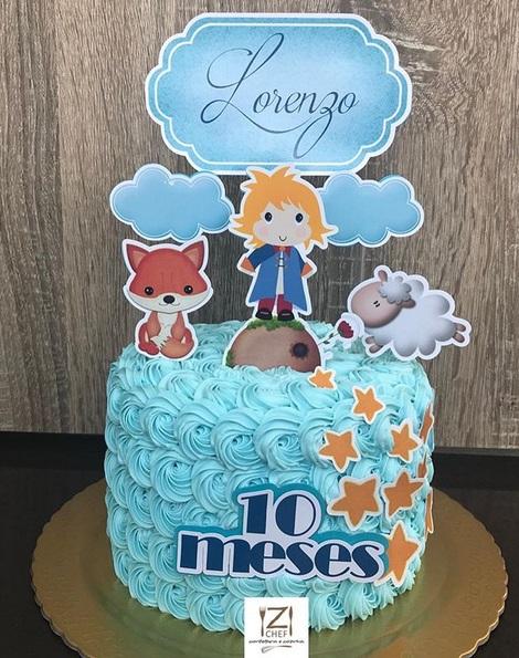 bolo azul mesversário