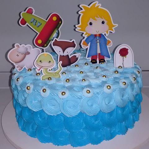 bolo simples azul