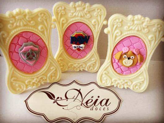 Doces Patrulha Canina: quadrinho de chocolate