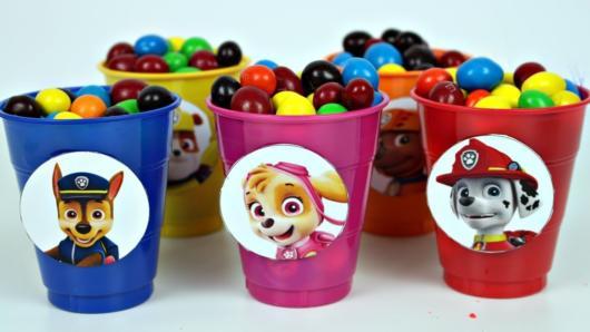 Doces Patrulha Canina: balde com confetes