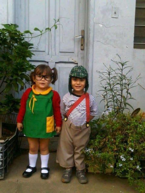 fantasia menina e menino