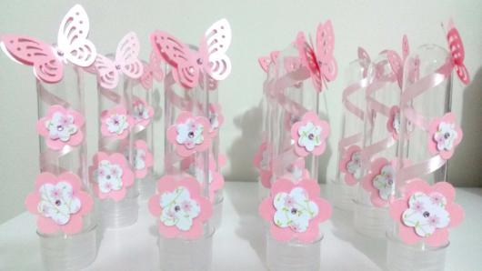 Decoração de tubetes com borboletas