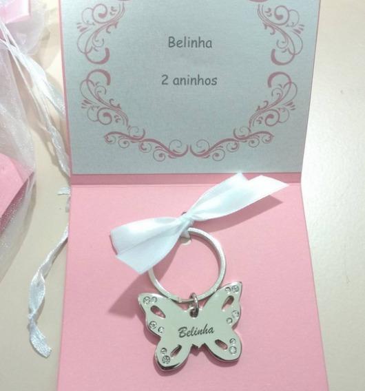 Chaveiro de borboleta para lembrancinhas