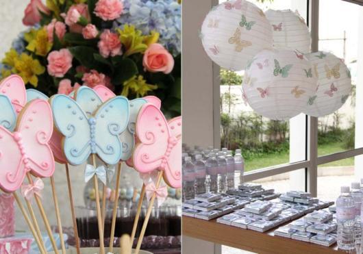 Escolha cores suaves para decorar festa Borboleta de 1 ano