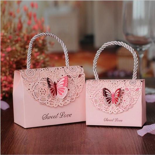 Bolsinha de papel para festa borboletas