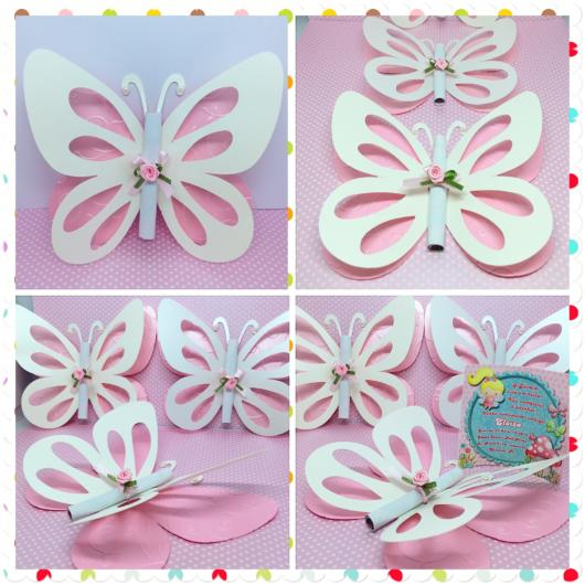 Dica de convite DIY para festas borboletas