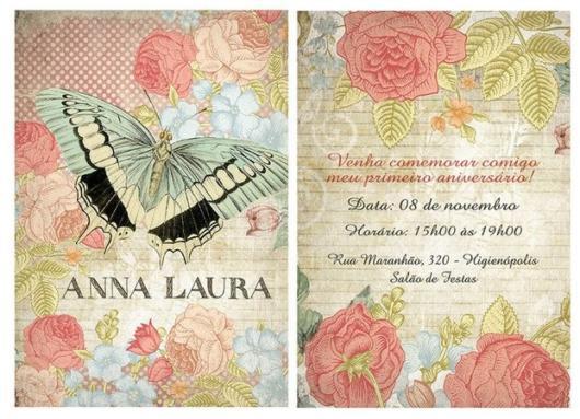 Inspire-se com convite provençal para festa de borboletas