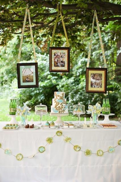 Festa no parque: decoração de casamento com quadros