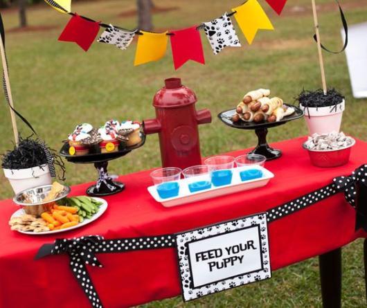 Festa no parque: Decoração para o tea Bombeiros