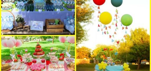 Festa no parque: inspirações