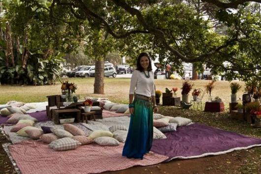 Festa no parque: Decoração com almodafas