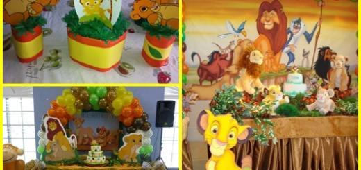 Festa Rei Leão: Inspirações