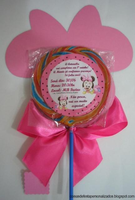 lembrancinha festa Minnie