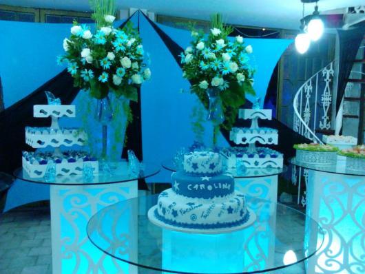 Mesa de 15 anos: Azul Tiffany