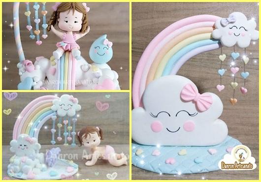 Topo de bolo chuva de amor: Inspirações