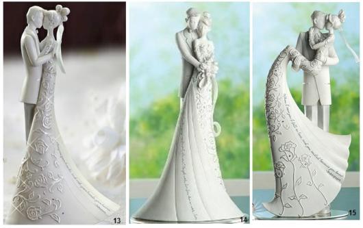 Os topos de bolo de porcelana são muito procurados atualmente