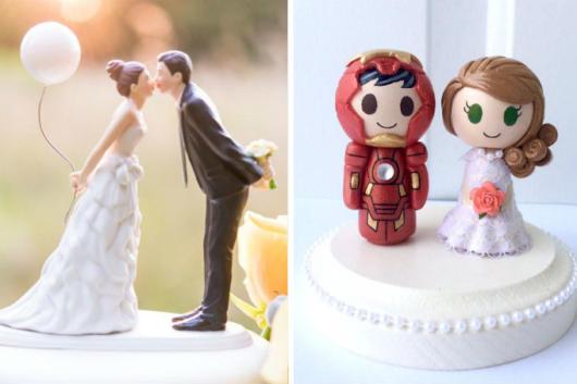 Modelos de topo de bolo de casamento divertidos