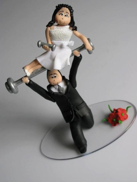 Topo de bolo para casal que malha junto!