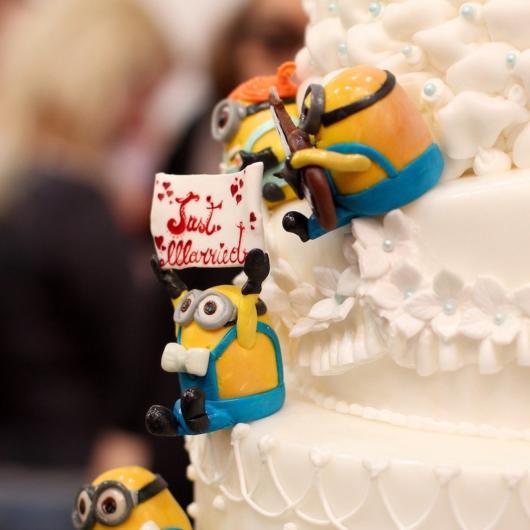 Também há topo de bolo dos Minions