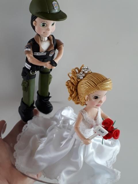 Topo de bolo inusitado de casamento