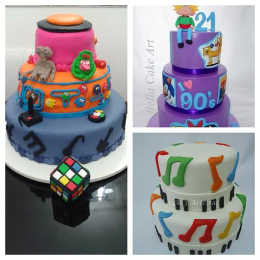 Os bolos de dois ou mais andares são opções perfeitas para qualquer festa