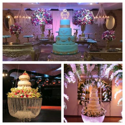 50 lindas ideias de bolo suspenso para festas de todos os portes