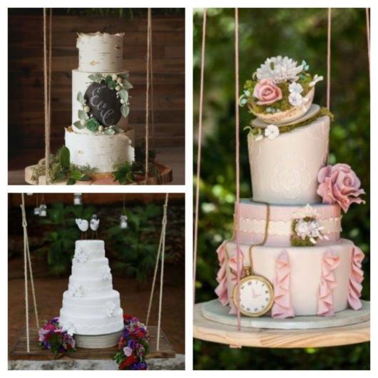 Faz toda a diferença na decoração investir em um bolo suspenso magnífico