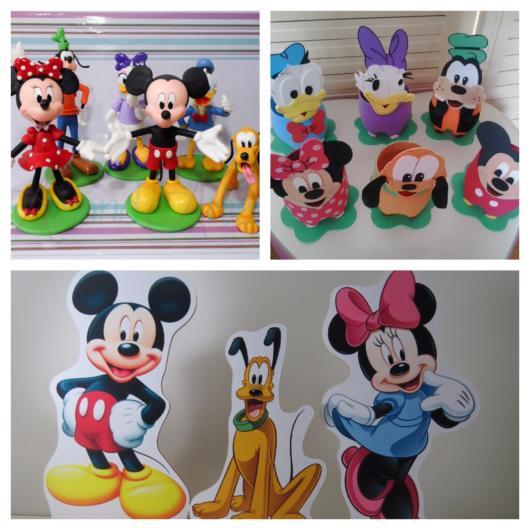 50 inspirações lindíssimas de enfeite de mesa do Mickey para todos os estilos e festas de todos os portes