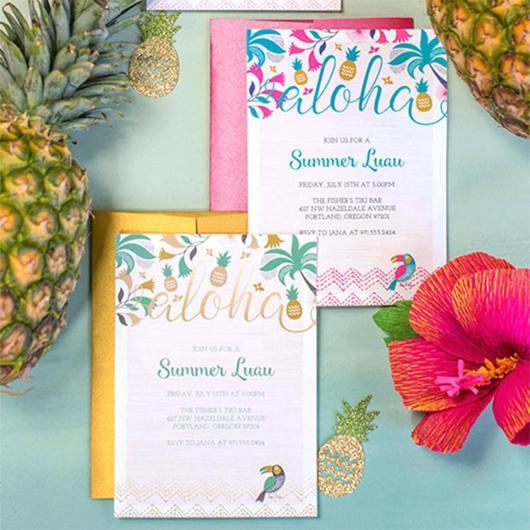 fotos de convite havaiano