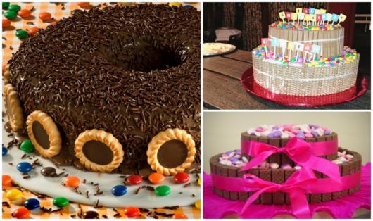 Conheça aqui diversas ideias de bolos decorados com biscoito