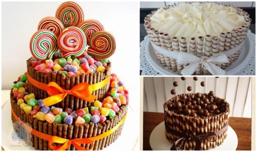 Aproveite os palitos de sorvete para decorar bolos