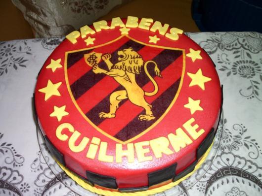 Lindo bolo do Sport exaltando as cores e as conquistas da equipe pernambucana