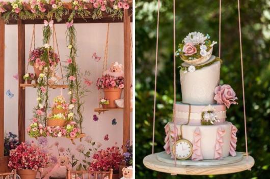 Do mais simples ao mais sofisticado, há diversos modelos de bolo suspenso para você escolher