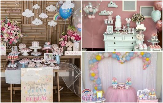 ideias para chá de bebê rosa