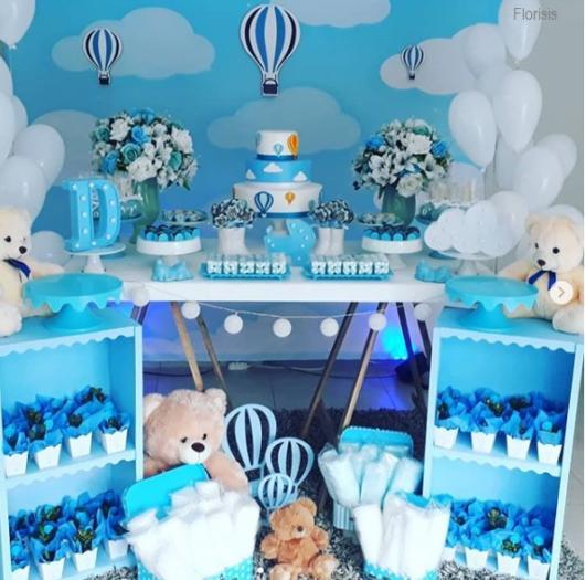 decoração festa nuvem e balão