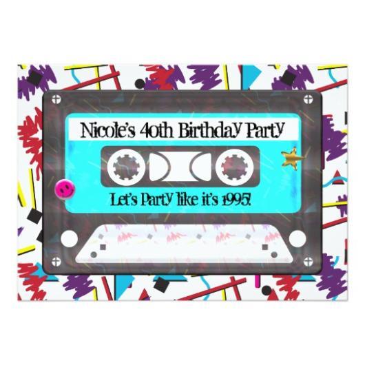 Fita K7 para destacar uma festa 90 de 40 anos